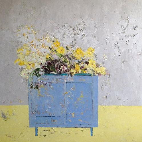 Blue Cupboard by Lorraine Wake
