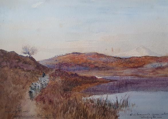 Ben Lomond from above Aberfoyle - Sir Alfred East (1844 - 1913)