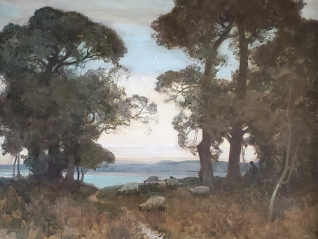 The Morning Moon by Sir Alfred East available to the public for the first time in over 100 years
