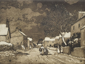 A Winter's Night - Sir Alfred East (1844 - 1913)