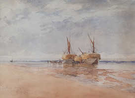 Loading Barges - Sir Alfred East (1844 - 1913)