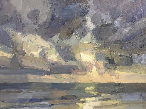 Seascape, late afternoon by Tim Benson