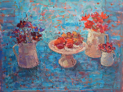Fruit and Flowers by Jackie Philip