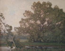 A Shady Glade - Sir Alfred East (1844 - 1913)