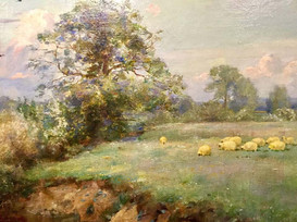 Sheep in a Water Meadow - Sir Alfred East (1844 - 1913)