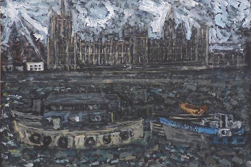 Parliament plein air study by ASK Fulgur