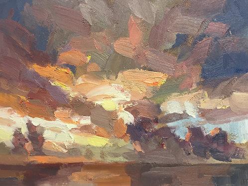 Fire sky by Tim Benson
