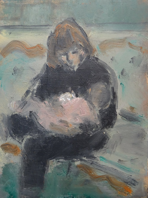 Young Mother with Child by Ghislaine Howard