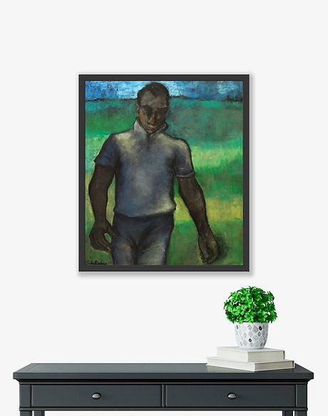 player-bowler-by-sula-rubens-framed-inro
