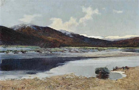 A Scottish Loch Scene in Winter - Sir Alfred East (1844 - 1913)