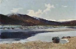 A Scottish Loch Scene in Winter - Sir Alfred East (1844 - 1913)