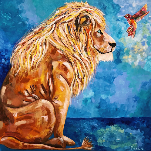 Lion and the Humming Bird