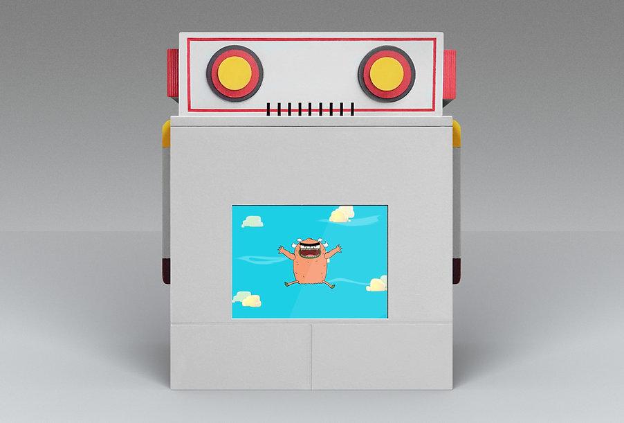 A robot kiosk for nickelodeon