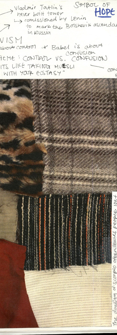 found fabrics & notes
