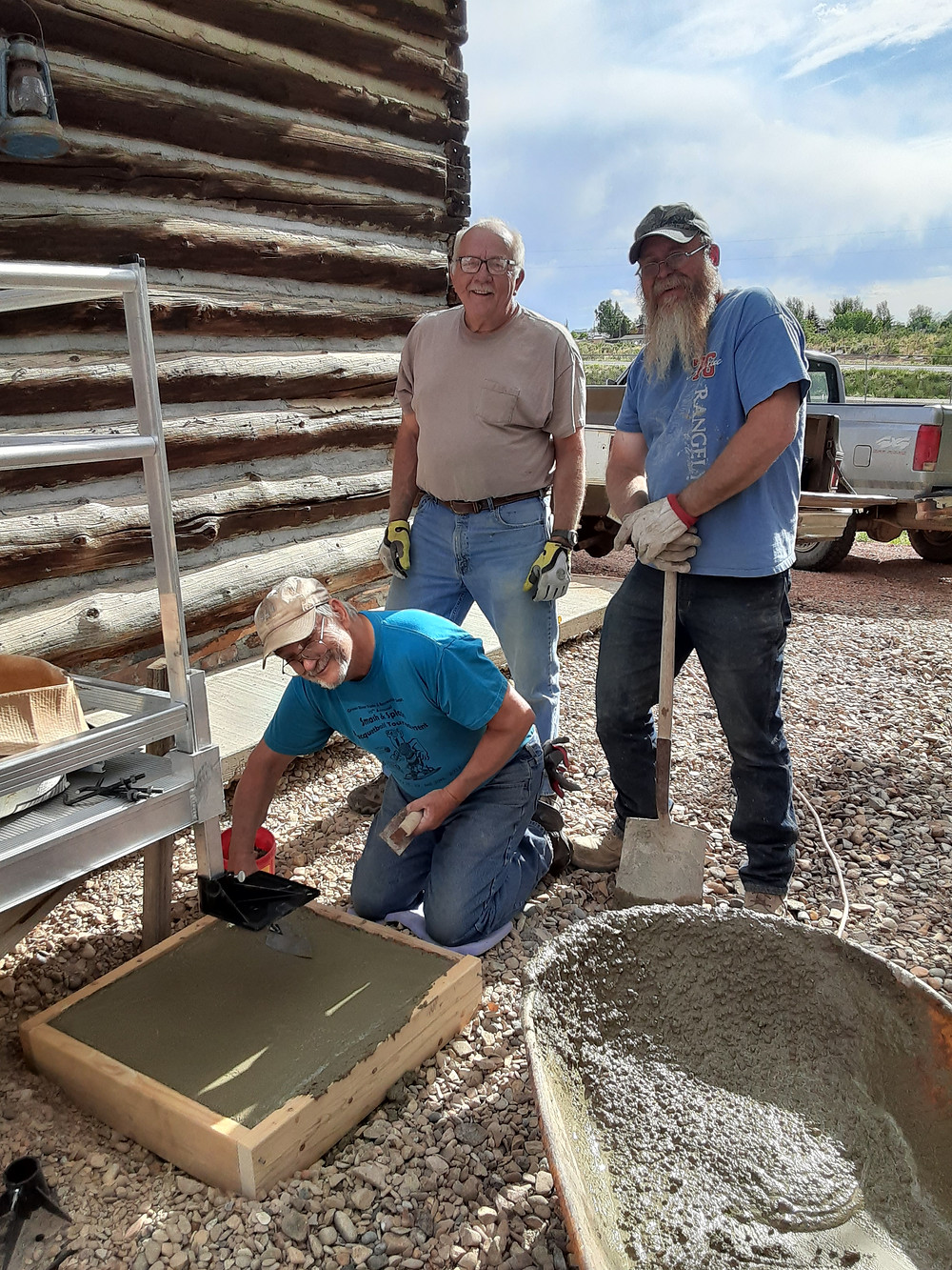 Ramp installation for the Wolf Canyon School House with Ken Parsons, Mike Miller, Dan Fiscus