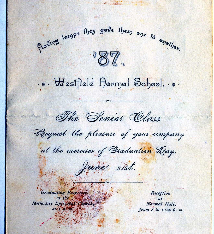 Graduation program Westfield Mass.