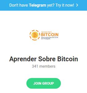 Telegram CCEX Aprender sobre bitcoin