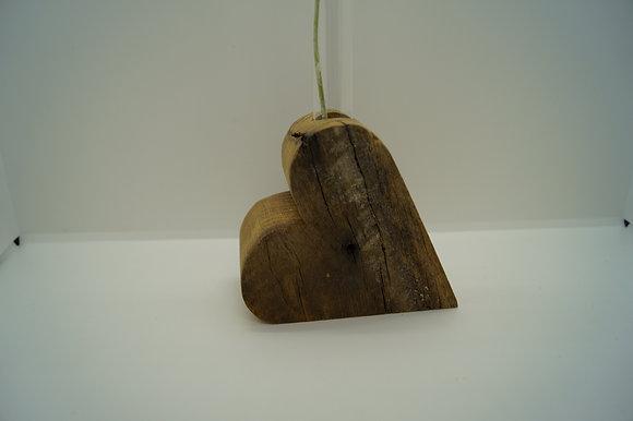 Herz Altholz mit Reagenzglas
