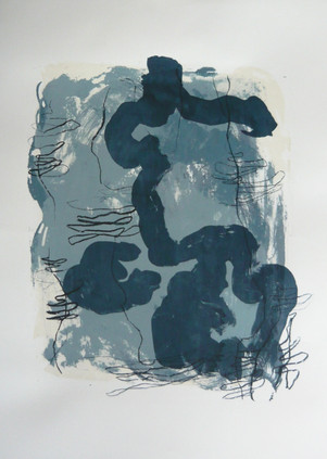 Blue-white composition