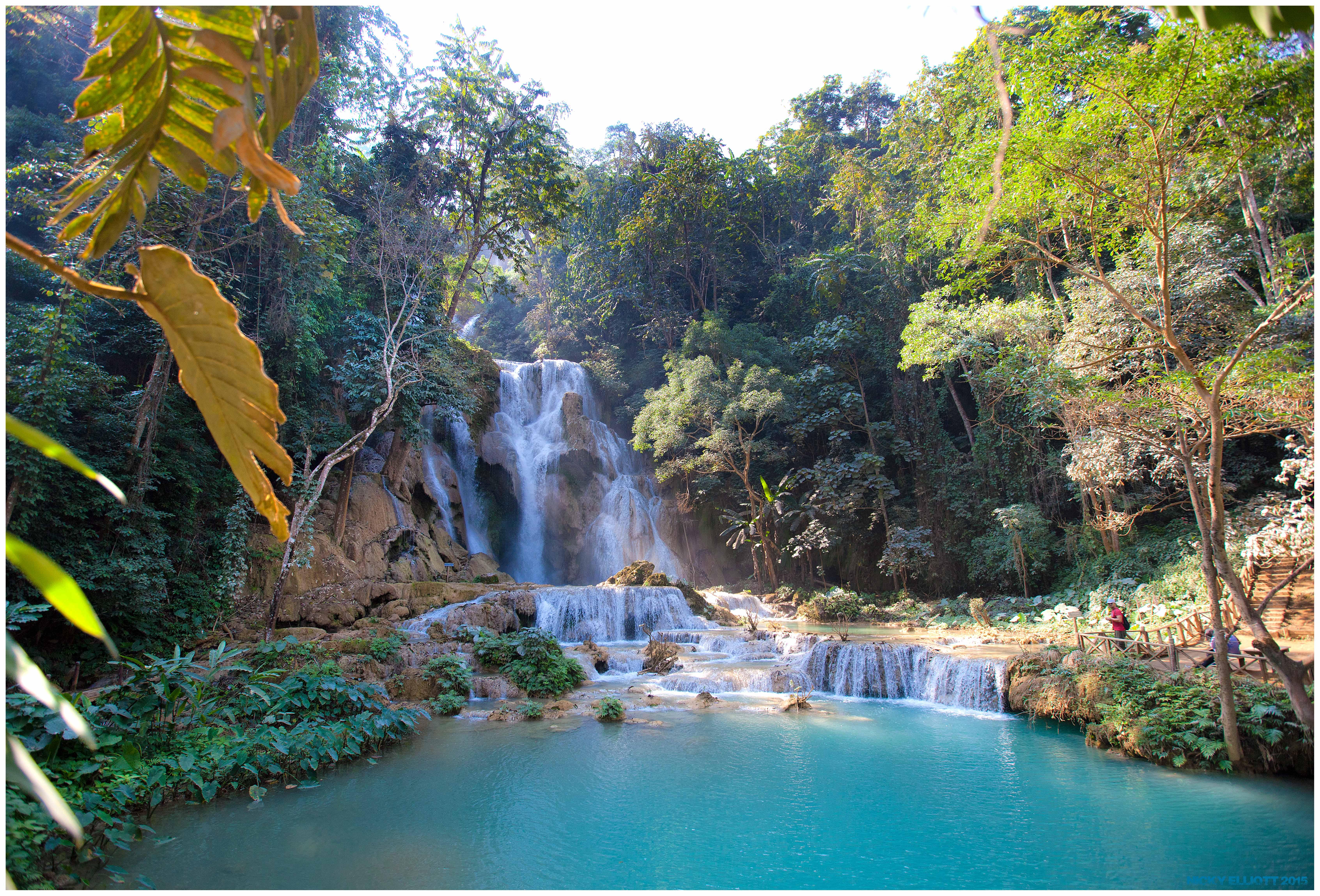 Limestone falls Laos