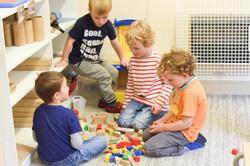 Playing at Woodlands Montessori