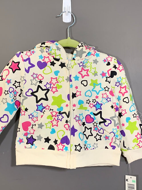 Size 12m WONDERKIDS New Stars and Hearts Hoodie