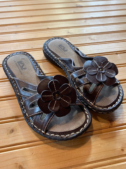 Size 1 Youth Brown Sandals