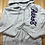 Size XL AEROPOSTALE Light Grey and Purple Hoodie