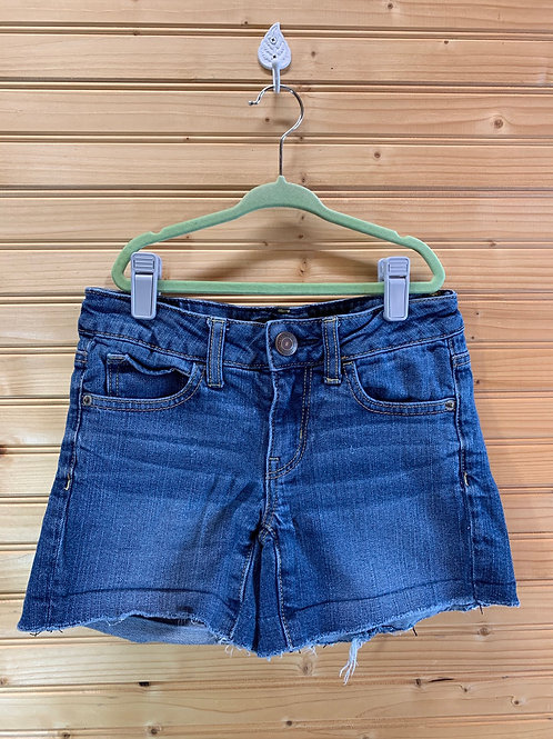 Size 00 AMERICAN EAGLE Jean Cut Off Shorts, Used