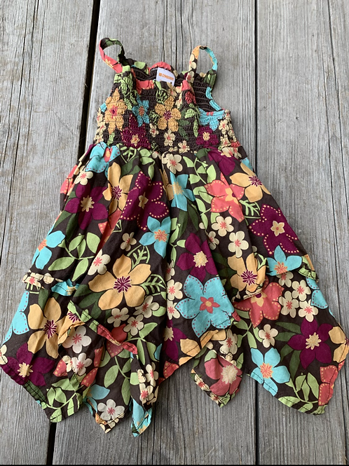Size 12-18m GYMBOREE Brown Floral Summer Dress