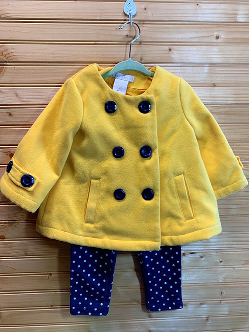 Size 2T Yellow Jacket and Pant Set
