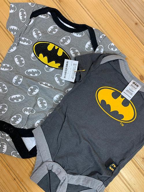 Size 0-3m 2pc BATMAN Onesies, Used
