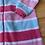 Size 3T Pink and Blue Fleece Footie PJ