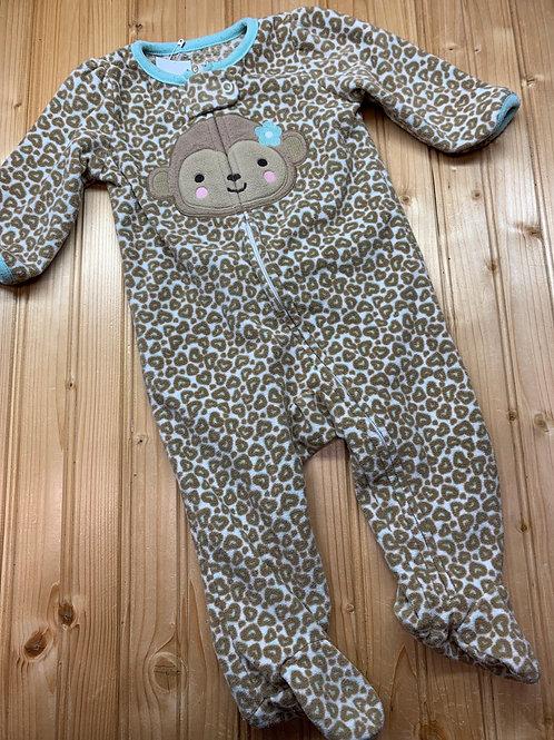 Size 3-6m CARTER'S Fleece Monkey Pj