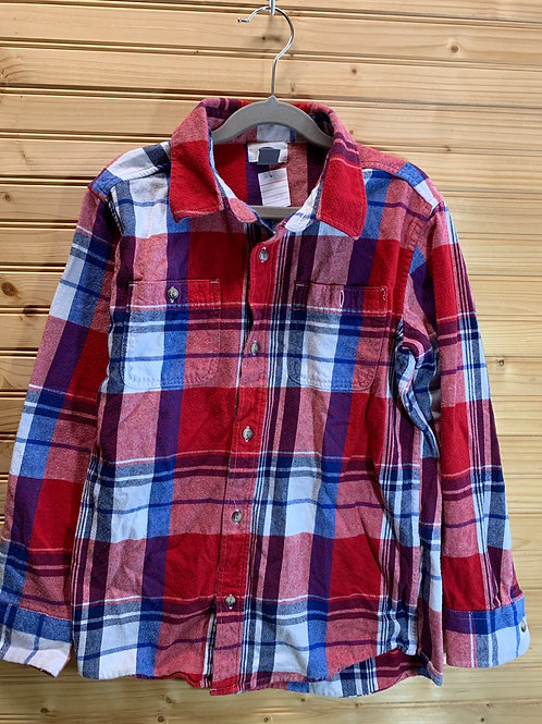 Size 10/12 Youth OLD NAVY Red Flannel Shirt, Used