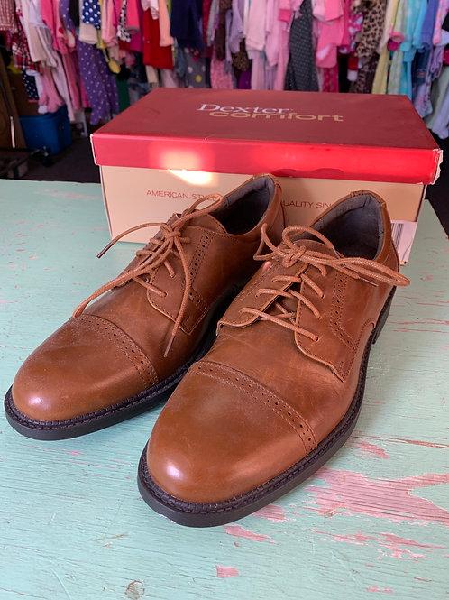 Size 6.5 Men's DEXTER Cognac Archer Captoe Dress Shoe