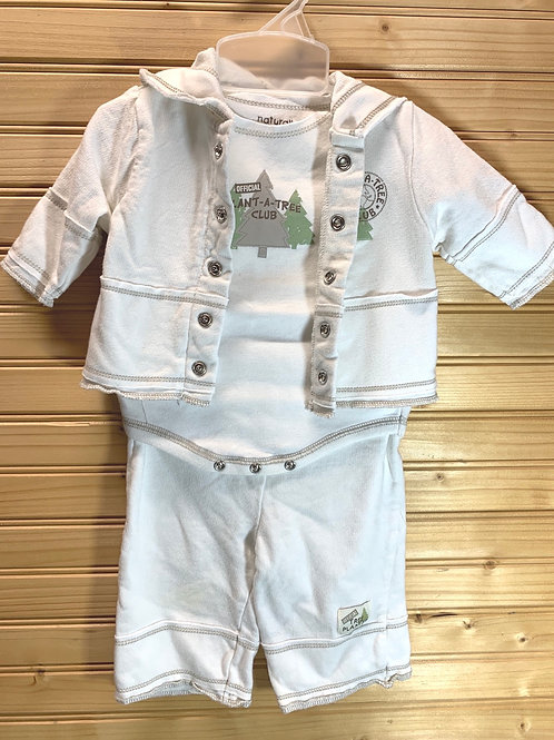 Size 0-3m Plant a Tree Organic 3pc Outfit