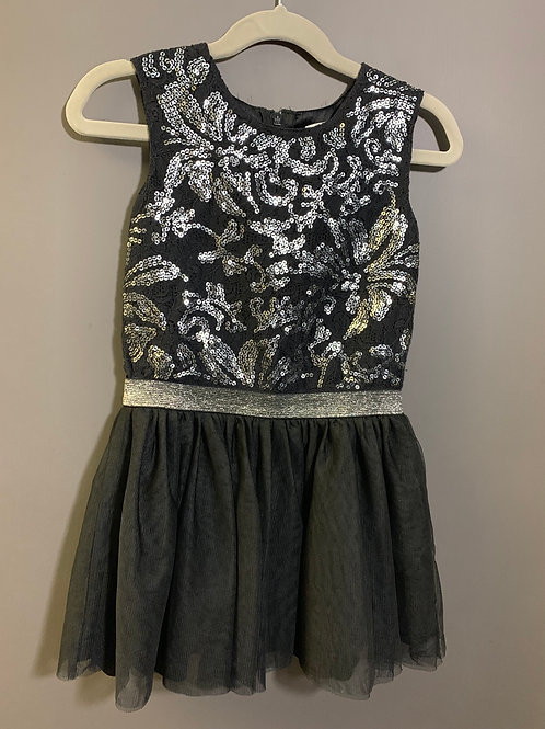 Size 5 Kids CHILDREN'S PLACE Black Sequin and Tulle Dress