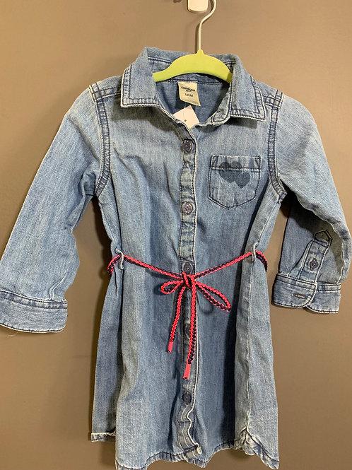 Size 18m OSHKOSH Blue Wash Chambray Shirt Dress