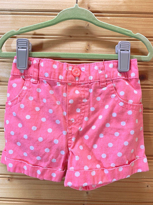 Size 2T Pink and White Shorts
