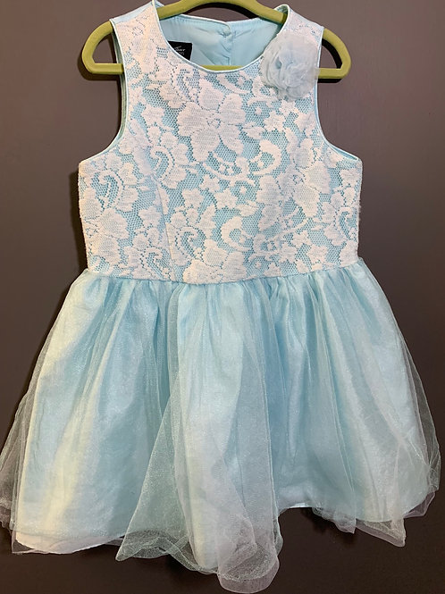 Size 5T Girls HOLIDAY EDITIONS Baby Blue Lace and Tulle Dress