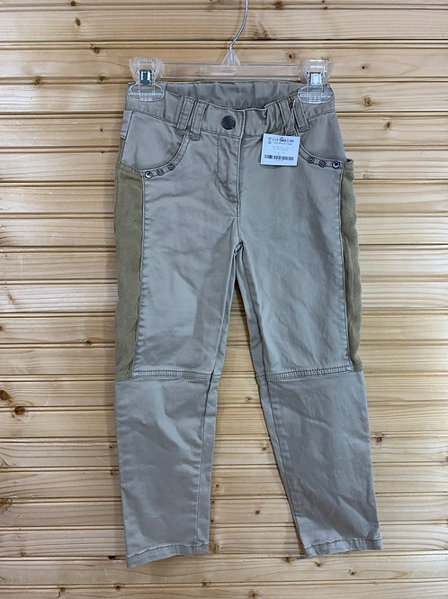 Size 5 KRICKETS Tan Pants with Suede Patches, Used