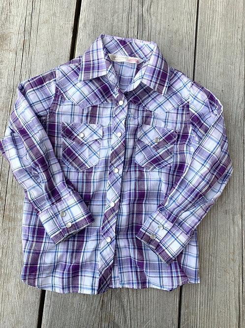 Size 3T CUMBERLAND Lavender Plaid Shirt