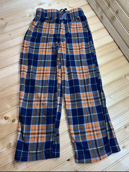 Size 6/7 Orange and Blue Plaid Fleece PJ bottoms