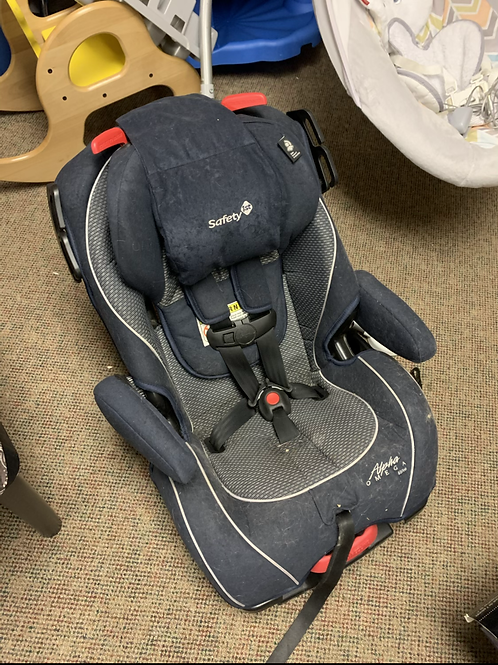 SAFETY FIRST Alpha Omega Elite Blue Grey Convertible Car Seat