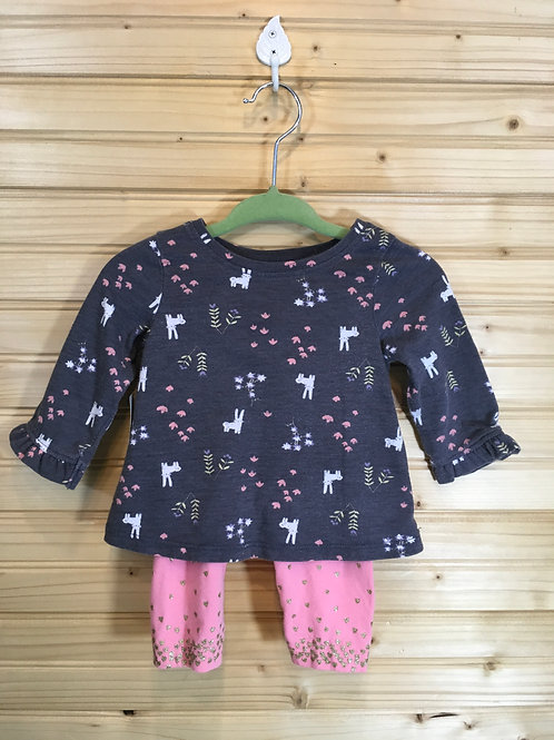 Size 3m JUMPING BEANS Grey and Pink Bunny 2pc Outfit