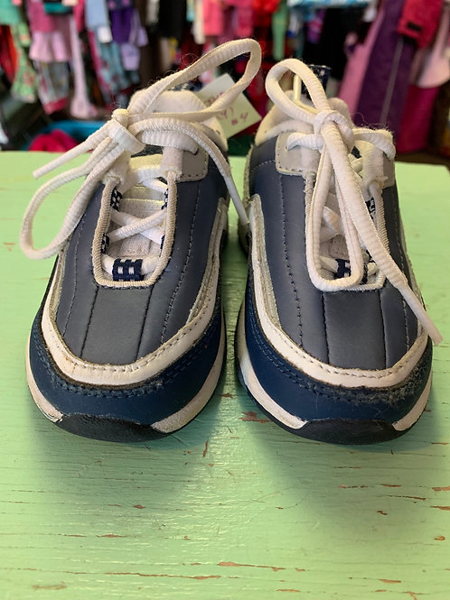 Size 4 Toddler REEBOK Blue and White Sneaker