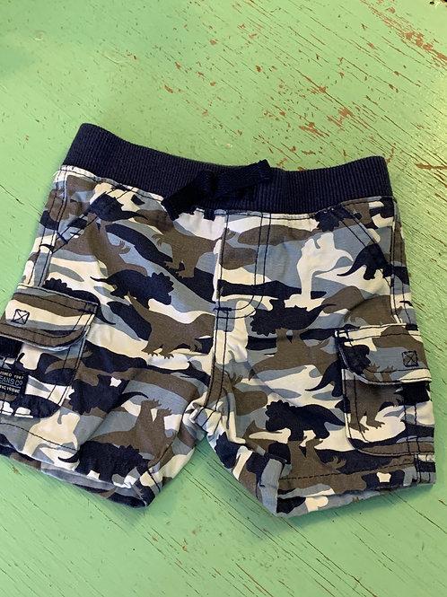 Size 12m Dinosaur Camo Shorts, Used