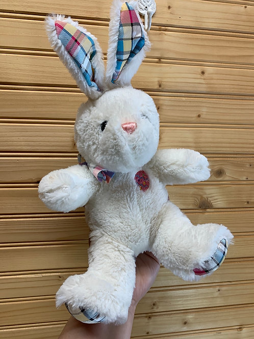Plaid Easter Bunny Stuffed Animal, Used