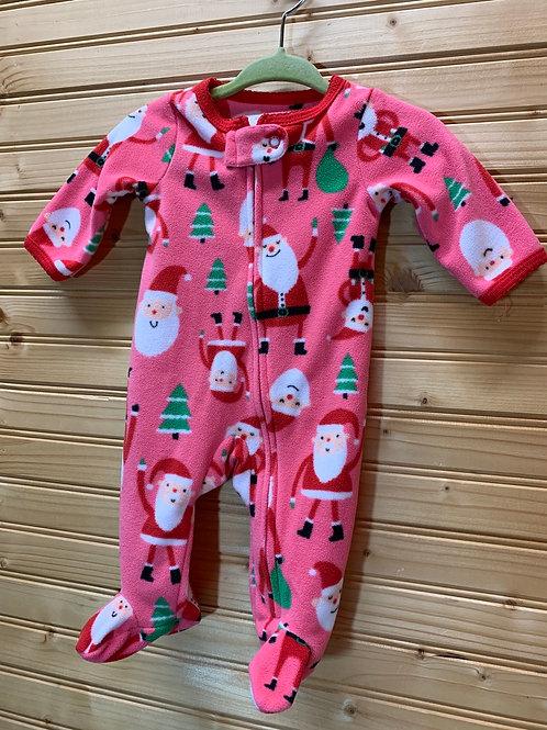 Size NB Pink Santa Christmas PJs